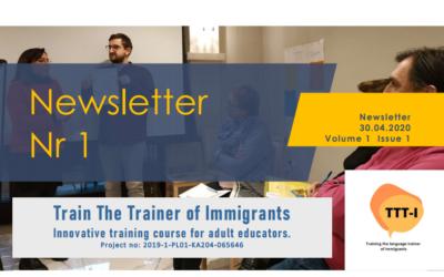 TTT-I Erasmus+ project presents its first newsletter