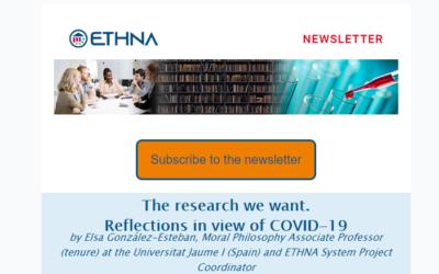 Primer boletín informativo del proyecto H2020 ETHNA System