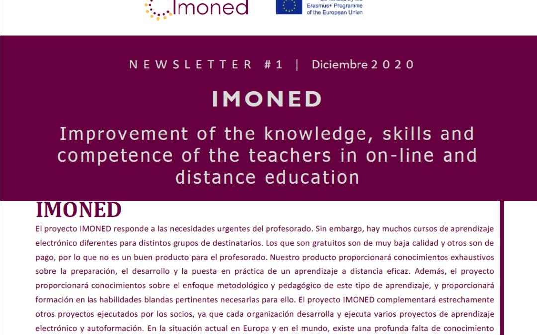 El proyecto IMONED sobre educación online publica su primera newsletter
