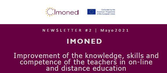 El 2º boletín onformativo del proyecto Erasmus+ IMONED ya está disponible