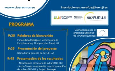 El Erasmus+ CIA Project celebra su Evento Multiplicador el próximo 9 de septiembre en la FUE-UJI
