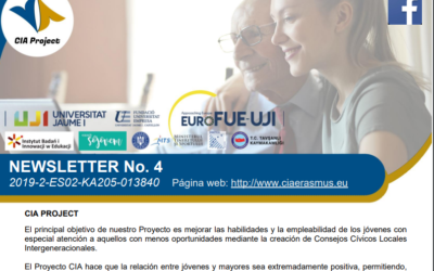 THE ERASMUS + CIA PROJECT PUBLISHES ITS FOURTH NEWSLETTER