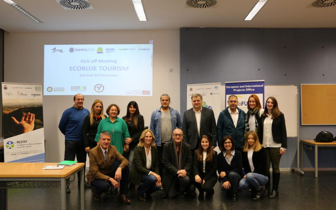 La FUE-UJI, sede del ecoturismo azul en el encuentro entre socios del proyecto Erasmus+ Ecoblue Tourism