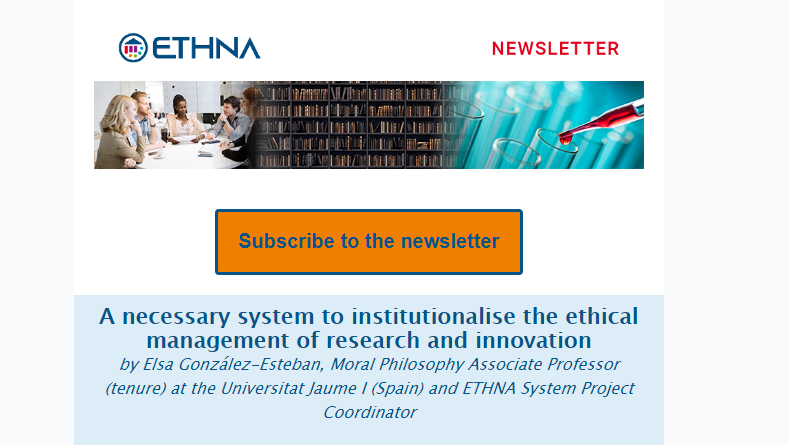 SECOND NEWSLETTER OF THE H2020 ETHNA SYSTEM PROJECT