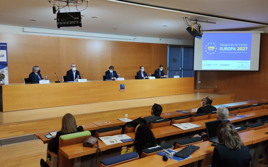 Caixalmassora renueva la colaboración con la FUE-UJI que hará posible nuevas sesiones de los Desayunos de trabajo Europa 2027