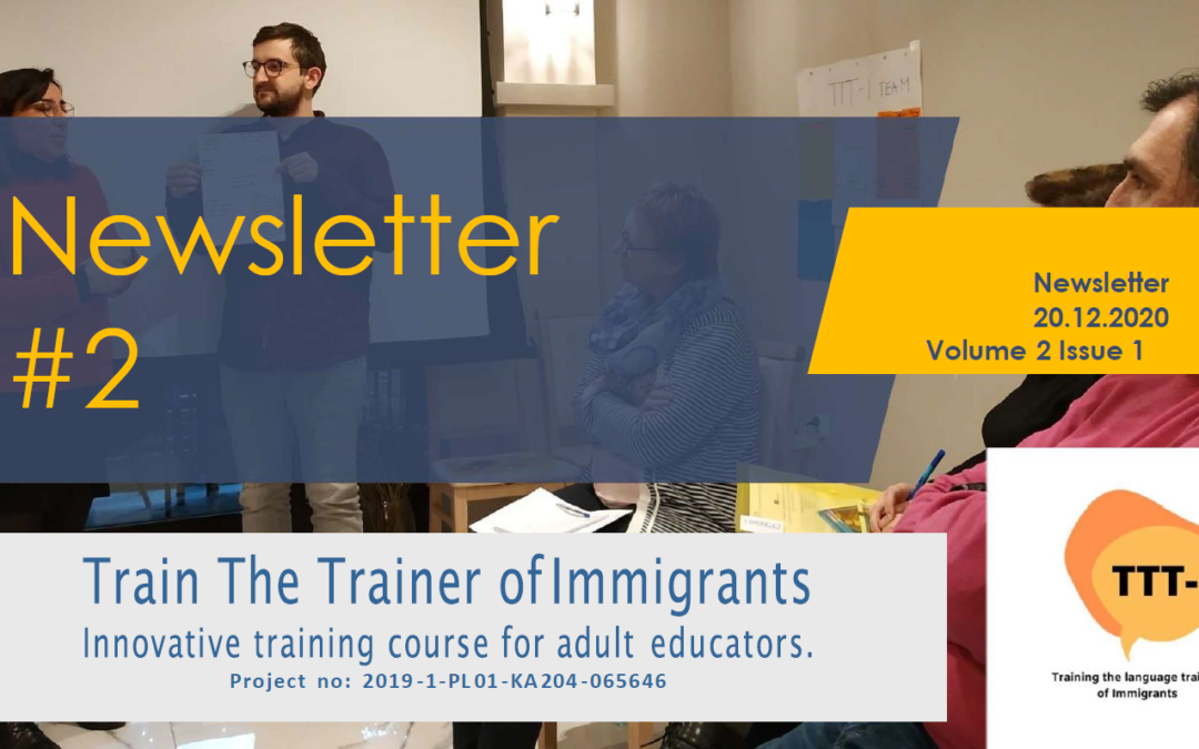 TTT-I ERASMUS+ PROJECT PUBLISHES THE SECOND NEWSLETTER