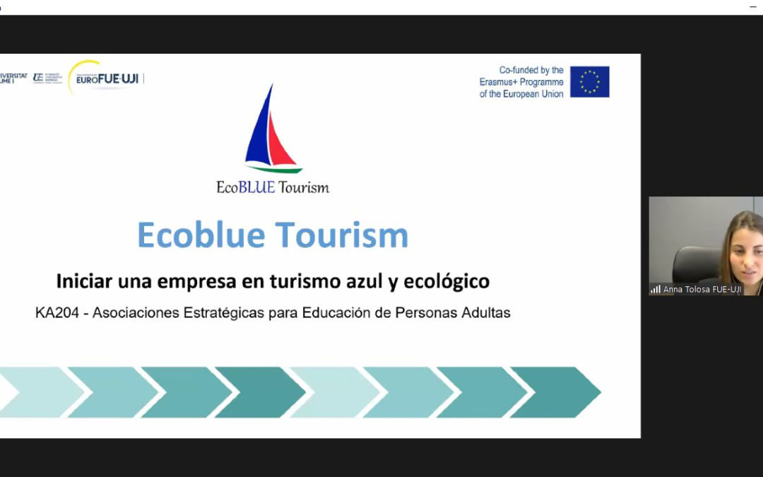The FUE-UJI presents the Ecoblue Tourism project in the cycle European Funds 2021-2027