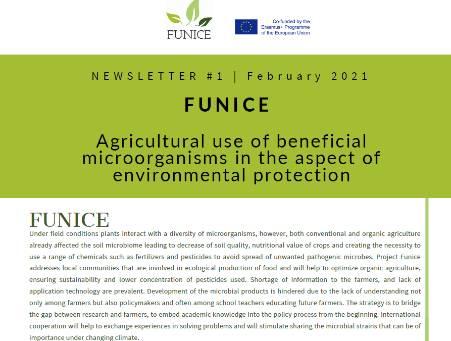 The Erasmus+ project FUNICE publishes its first newsletter