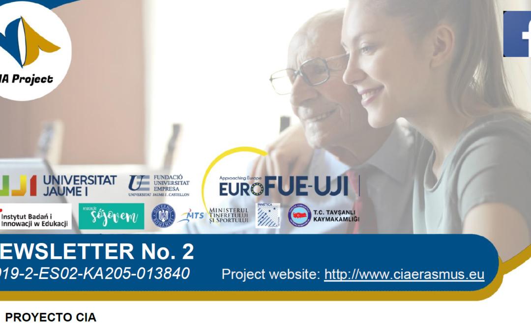 La Segunda Newsletter del Erasmus+ CIA publica los avances del proyecto