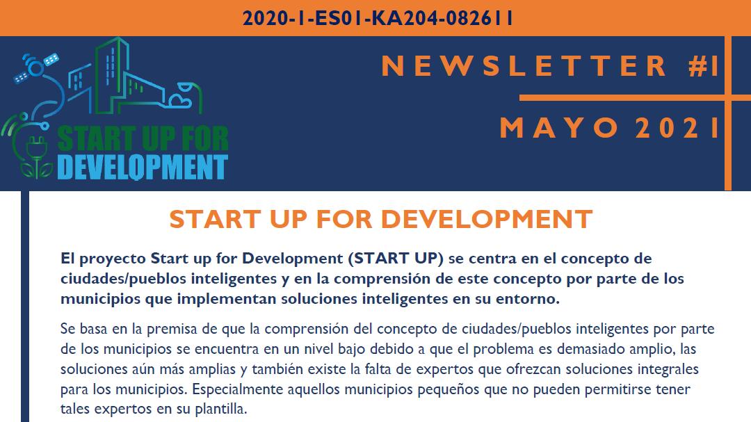 El proyecto Erasmus + START UP for Development publica su primer boletín informativo