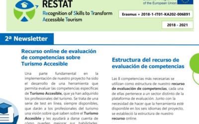 EL PROEYCTO ERASMUS+ RESTAT PUBLICA SU SEGUNDO BOLETÍN INFORMATIVO